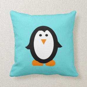 Cute Whimsical Penguin Pillow