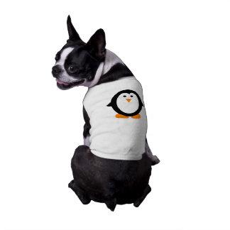 Cute Whimsical Penguin Shirt for Dogs Sleeveless Dog Shirt