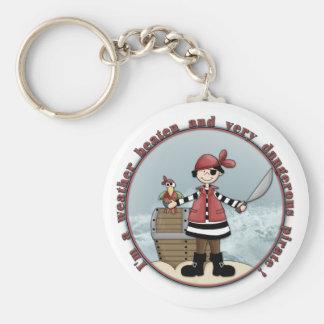 Cute whimsical Pirate design Key Chain