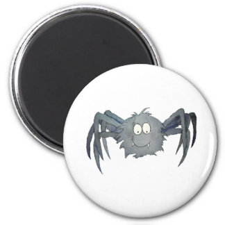 Cute Whimsical Spider Add Your Text or Name 6 Cm Round Magnet