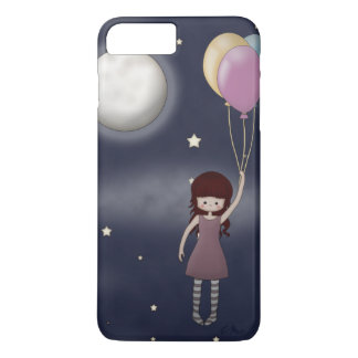 Cute Whimsical Young Girl with Balloons iPhone 7 Plus Case