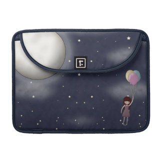 Cute Whimsical Young Girl with Balloons Sleeve For MacBook Pro
