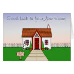 Cute, Whisical Cartoon Cottage - New Home Greeting Card