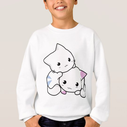 Cute white animated kittens sweatshirt