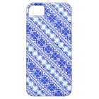 Cute white blue decorative ukrainian stripes barely there iPhone 5 case