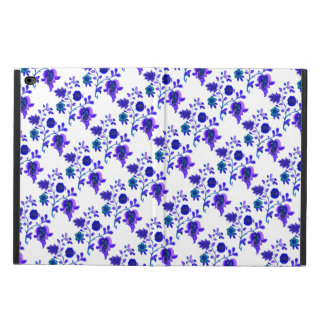 Cute white blue flowers pattern