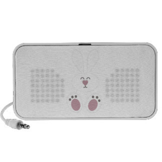 Cute White Bunny Rabbit Mp3 Speakers