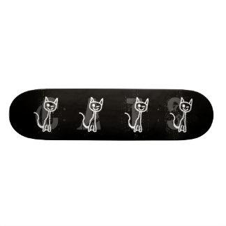 Cute White Cat. 20 Cm Skateboard Deck