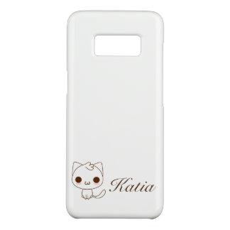 cute white cat Case-Mate samsung galaxy s8 case
