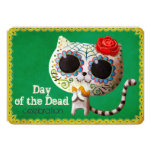 Cute White Cat Dia de Los Muertos Party Invittion 13 Cm X 18 Cm Invitation Card