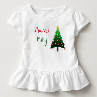 "Cute white ""Christmas tree"" personalised Toddler T-Shirt"