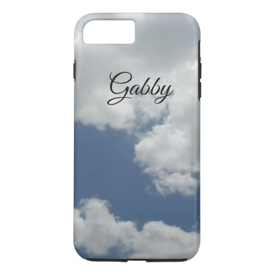 Cute White Clouds Photo Design Personalised iPhone 8