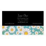 Cute White Daisies on Blue Green Pack Of Standard Business Cards