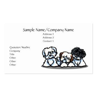 Cute White Dogs Pet Business Simple Pack Of Standard Business Cards