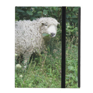 Cute White Fluffy Sheep Eating iPad Case