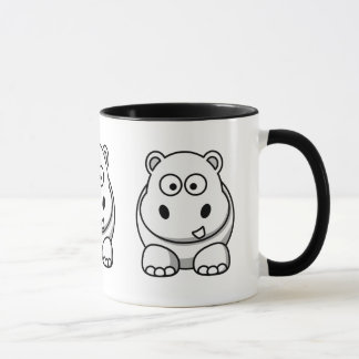 Cute White Hippo Mug