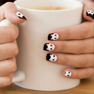 Cute White Kawaii Kitty Cat Minx Nail Art