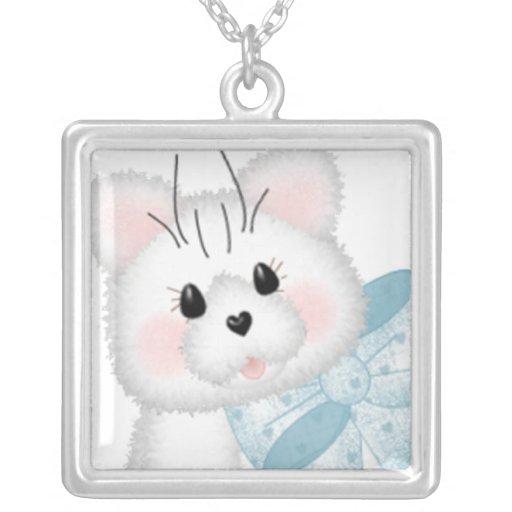 Cute White Kitty Custom Jewelry