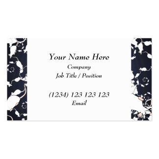 Cute White Mice. In Deep Space. Custom Business Card Template