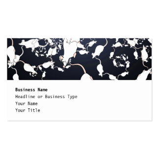 Cute White Mice. In Deep Space. Custom Double-Sided Standard Business Cards (Pack Of 100)