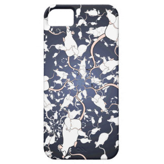 Cute White Mice. In Deep Space. Custom Case For The iPhone 5