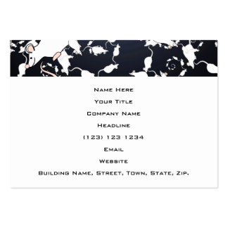 Cute White Mice. In Deep Space. Custom Pack Of Chubby Business Cards