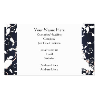 Cute White Mice. In Deep Space. Custom Pack Of Standard Business Cards