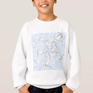 Cute White Mouse Pattern. Mice on Blue. Sweatshirt