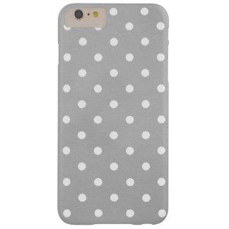 Cute White Pokadots Grey iPhone 6/6s Plus Case