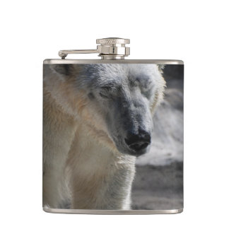 Cute White Polar Bear Hip Flask