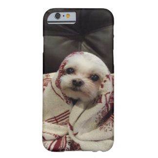 """""""Cute White Puppy"""" wrapped in blanket Barely There iPhone 6 Case"""