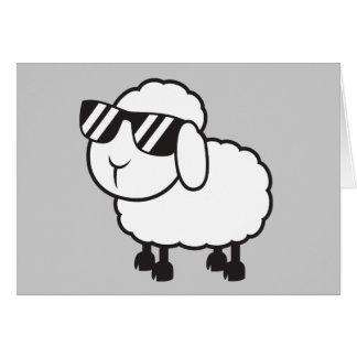 Cute White Sheep Cartoon Greeting Card