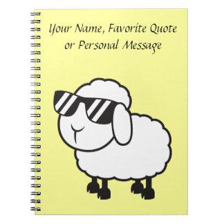 Cute White Sheep Cartoon Notebook