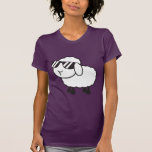 Cute White Sheep Cartoon T-Shirt