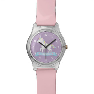 Cute White Unicorn Pastel Mane Girls Watch