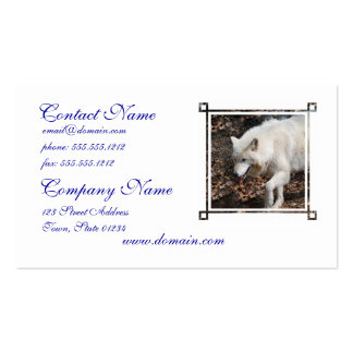 Cute White Wolf Business Card Templates