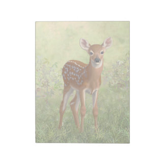 Cute Whitetail Fawn Notepad