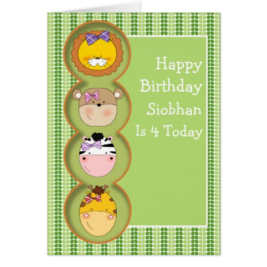 Cute Wild Animal Card