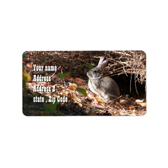 Cute wild bunny shipping labels