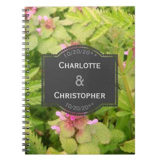 Cute Wild Flower Wedding Note Book