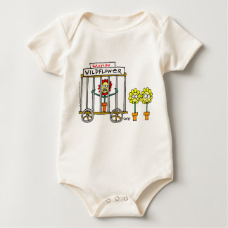 Cute Wildflower Cartoon Cranky Baby Bodysuit