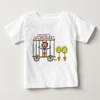 Cute Wildflower Cartoon Cranky Baby Tshirts