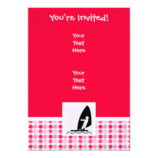 Cute Windsurfing 13 Cm X 18 Cm Invitation Card