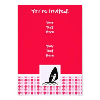 Cute Windsurfing 13 Cm X 18 Cm Invitation Card