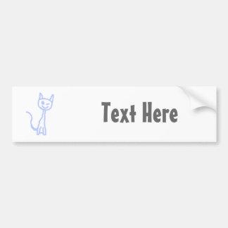 Cute winking cat. Blue. Bumper Sticker