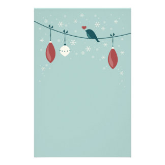 Cute Winter Bird Holiday Stationery