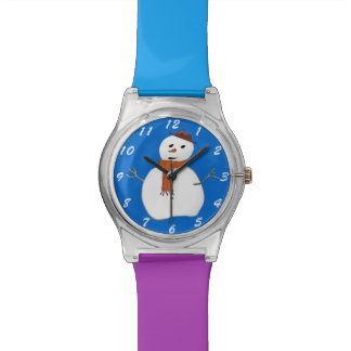 Cute Winter Cartoon Snowman Choice of Colors Watch