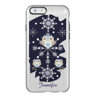 Cute winter Owls and Snowflakes Incipio Feather® Shine iPhone 6 Case