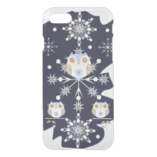 Cute winter Owls and Snowflakes iPhone 8/7 Case
