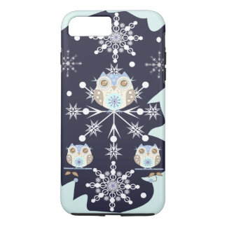 Cute winter Owls and Snowflakes iPhone 8 Plus/7 Plus Case